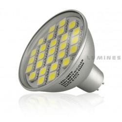 MR16 LED HALOGEN 12V 4W 430LM 27LED SMD 5050 BIAŁY ZIMNY IP44
