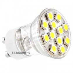 GU11 LED HALOGEN(MAX) 230V 1,9W 135LM 12LED SMD 5050 B.ZIMNY 6000K 140° IP20