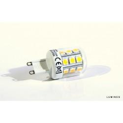 LED G9 2,6W 400LM 23LED SMD 5050 BIAŁY ZIMNY