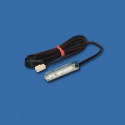 NSP TRANSPARENTNA NAKŁADKA LED DO PÓŁEK SZKLANYCH 50mm 3LED 12V DC 0,24W
