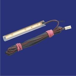 NSP TRANSPARENTNA NAKŁADKA LED DO PÓŁEK SZKLANYCH 100mm 3LED 12V DC 0,30W