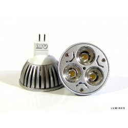 LED HALOGEN 12V 3W 300LM 3x1W HP LED BIAŁY ZIMNY