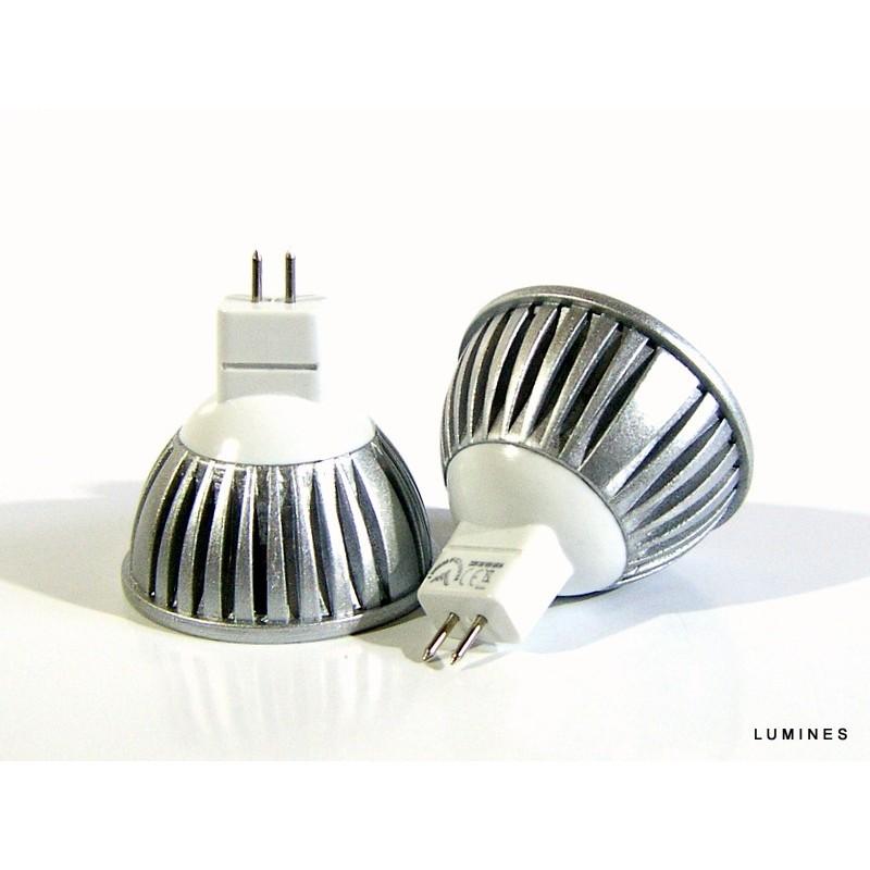 mr16 led halogen 12v 3w 300lm 3x1w hp led bia y zimny lumines. Black Bedroom Furniture Sets. Home Design Ideas