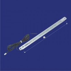 MEBLOWA OPRAWA LED DO SZAF SLP/G 12V 420mm 24LED 2,4W Z WŁĄCZNIKIEM, KABEL 2m