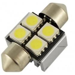 ŻARÓWKA SAMOCHODOWA LED CV8.5 31mm C5W,C10W 4LED SMD 5050 B.ZIMNY FESTOON LIGHT