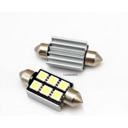 ŻARÓWKA SAMOCHODOWA LED (LL) CV8.5 39mm C5W,C10W 6LED SMD 5050 B.ZIMNY FESTOON LIGHT