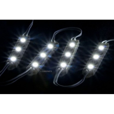 MODUŁ LED(MPL) 3x3528 12V 0,3W 3 DIODY B. ZIMNY IP65