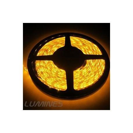 TAŚMA LED(MAX) 6lm 12V 24W 300LED/5M 3528 ŻÓŁTA 120° IP54 1m P.BIAŁY