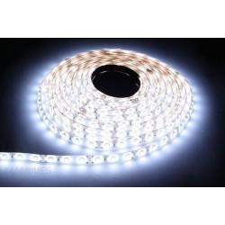 TAŚMA LED(MAX) 6lm 12V 48W 600LED/5M 3528 B.ZIMNY 6000K 120° IP20 1m P.BIAŁY