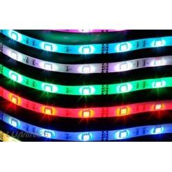 TAŚMA LED(MAX) 14lm 12V 36W 150LED/5M 5050 RGB 120° IP54 1m P.BIAŁY