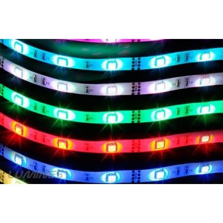 TAŚMA LED(MAX) 16lm 12V 72W 300LED/5M 5050 RGB 120° IP54 1m P.BIAŁY