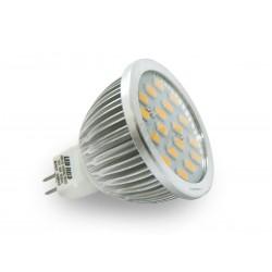 MR16 LED(LIN) HALOGEN 12V 6W 430LM 18LED SMD 5630 BIAŁY CIEPŁY IP44