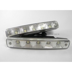 LAMPY DRL11 LED(LL)  2 x 5 szt. diod 1W HIGH POWER LED