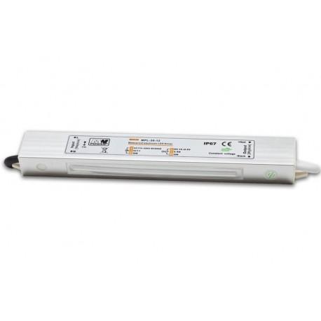 ZASILACZ LED(LIN) MWPOWER 45W WODOODPORNY 12V DC 3,75A IP67