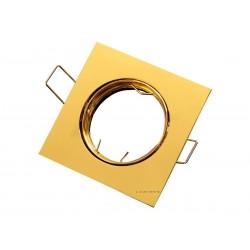 OPRAWA HALOGENOWA/LED(LIN) KWADRAT USTAWNA ZŁOTO GU10/MR16