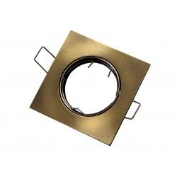 OPRAWA HALOGENOWA/LED(LIN) KWADRAT RUCHOMA PATYNA GU10/MR16