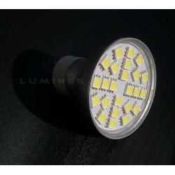 GU10 LED(LIN) HALOGEN 4,5W 400LM 24LED SMD 5050 B.ZIMNY 6000K 120° IP40