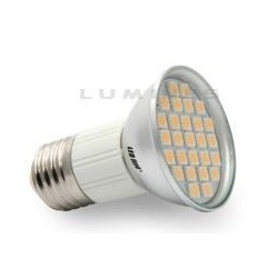 E27 LED(LIN) HALOGEN 5W 380LM 27LED SMD 5050 B.ZIMNY 6000K 120° IP40