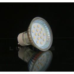 GU10 LED(LIN) HALOGEN 1W 70LM 15LED SMD 3528 BIAŁY ZIMNY IP40