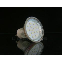 GU10 LED(LIN) HALOGEN 1W 70LM 15LED SMD 3528 BIAŁY CIEPŁY IP40