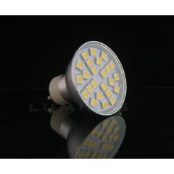 GU10 LED(LIN-EL) HALOGEN 4,5W 400LM 24LED SMD 5050 B.CIEPŁY 3000K 120° IP40
