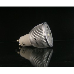 GU10 LED HALOGEN 4W 400LM 4x1W HP LED BIAŁY ZIMNY 6000K IP40