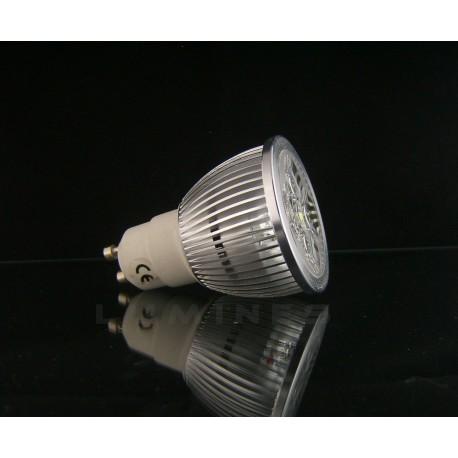 GU10 LED HALOGEN 4W 400LM 4x1W HP LED BIAŁY ZIMNY 6000K IP40