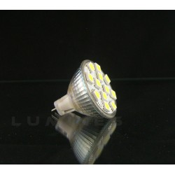 MR11 LED(LIN) HALOGENN12V 2,2W 190LM 12LED SMD 5050 BIAŁY ZIMNY