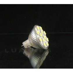 MR11 LED(LIN) HALOGENN12V 2,2W 190LM 12LED SMD 5050 BIAŁY ZIMNY