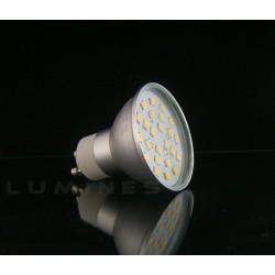 GU10 LED(LL) HALOGEN 3,8W 380LM 24LED SMD 2835 B.CIEPŁY 3000K 120° IP40
