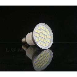 E14 LED(LIN) HALOGEN 5W 380LM 27LED SMD 5050 B.ZIMNY 6000K 120° IP40