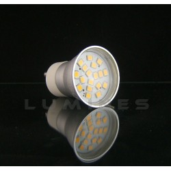 GU11 LED HALOGEN(LL) 230V 2,8W 300LM 18LED SMD 2835 B.CIEPŁY 3000K 140° IP40