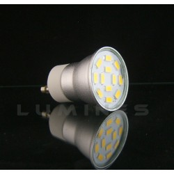 GU11 LED HALOGEN(LIN) 230V 3W 190LM CCD 12LED SMD 5630 B.CIEPŁY 3000K 140° IP40
