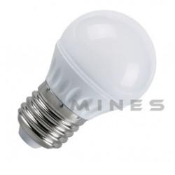 E27 LED (LIN) BULB 4W  LED COB 350lm B.CIEPŁY 3000K 120° IP40