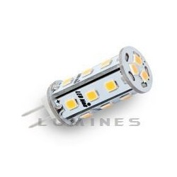 G4 LED(LIN) CORN 12V 3W CCD 18LED SMD 2835 B.CIEPŁY 2700-3000K IP20