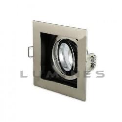 OPRAWA HAL/LED(LV) RECESS KWADRAT POJEDYŃCZA RUCHOMA AL. DRAPANE GU10/MR16