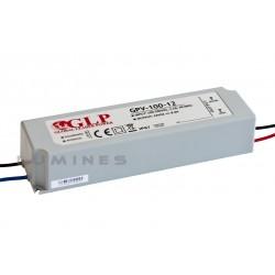 ZASILACZ LED(LAB-LIN) GLP 102W WODOODPORNY 12V DC 8,5A IP67
