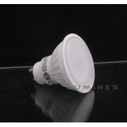 GU10 LED(LL) HALOGEN 7W 16 LED 2835 EPISTAR 650LM B.CIEPŁY 3000K 160° IP40