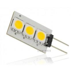 LED HALOGEN 12V 0,6W 40LM 3LED SMD 5050 B.CIEPŁY 3000K 360° IP20