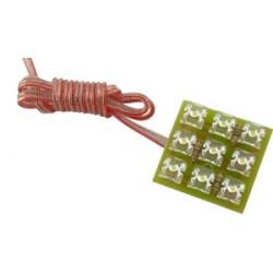 MODUŁ LED (KLASTER) SUPERFLUX 0,5W 12V 8,5lm 9 DIOD B.ZIMNY IP40